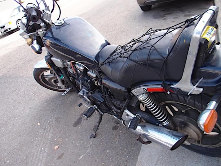 80's Honda Shadow zip tied together