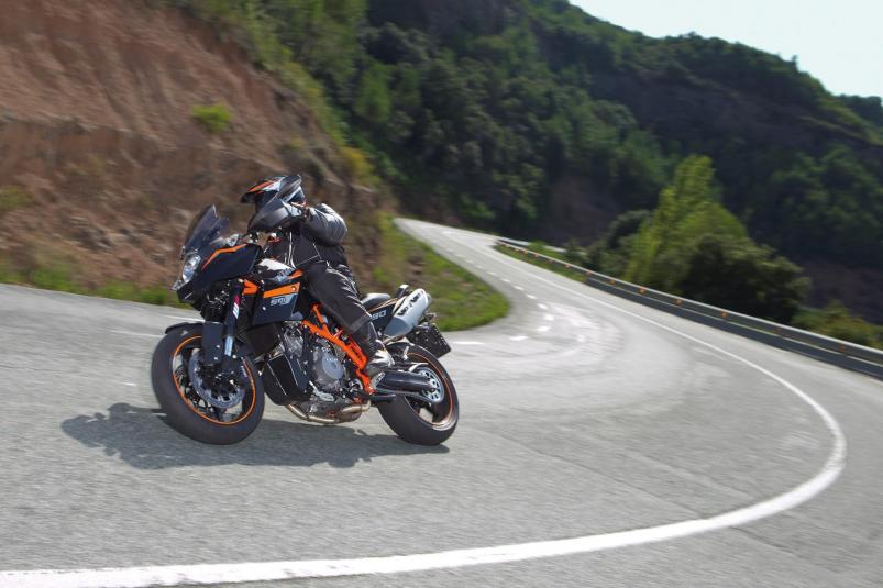 2013 KTM 990 Supermoto T in action 1