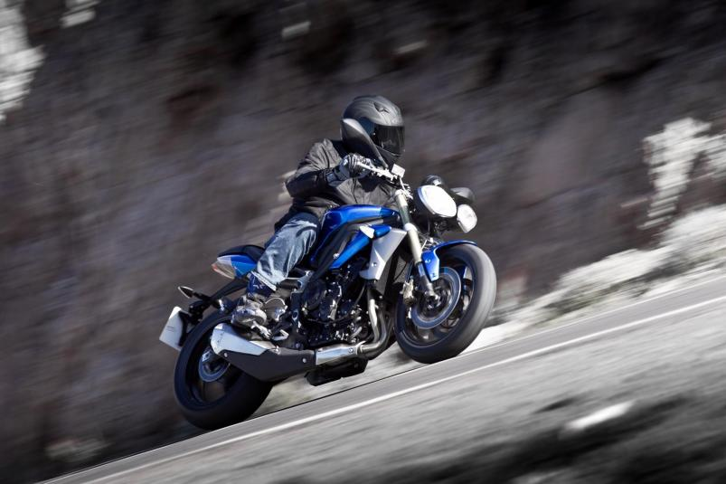 2013 Triumph Street Triple  - in action