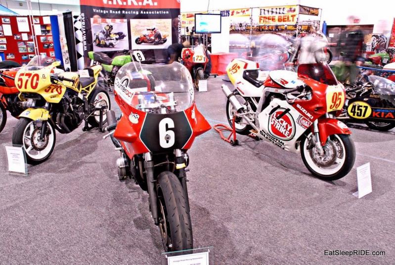 Vintage road race motorbikes