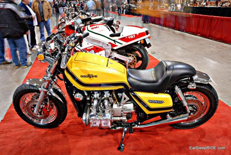 Yellow Honda Goldwing