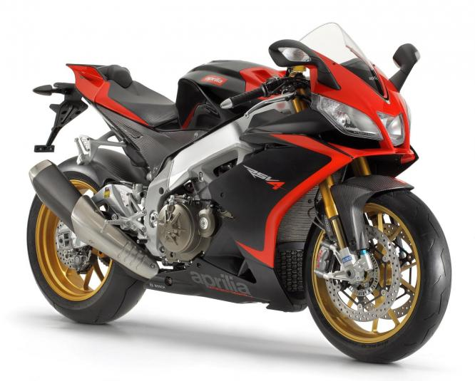 2013 Aprilia RSV4 R Factory ABS - front quarter view
