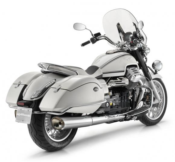 2013 Moto Guzzi California 1400 Touring Eldorado - rear quarter view