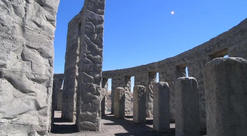 Maryhill Stonehenge - interior view