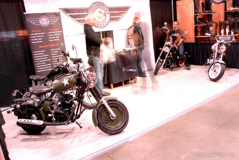 CSC Motorcycles on display