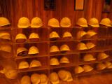Laurel Cavern hard hats for 3 hour tour