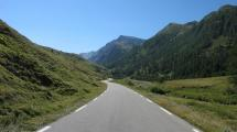 Curvy roads on the French side of the Col Agnel