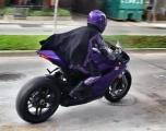 Hit-Girl and Purple Ducati on set for Kick-Ass 2 filming