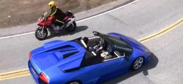 Lamborghini Vs. Motorcycle