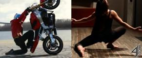 Motorcycle Stunt Dancing - stunts and dance moves