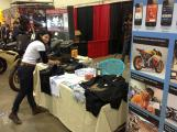 Marina at the EatSlepRIDE booth at Spring Motorcycle Show
