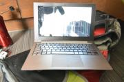 My Asus laptop faired less well after two days on the highway