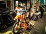 Toronto SX 2013 - Warming Up Shorty's KTM