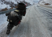 Moin Khan's Honda stops for a breather in a not-hot region of eastern Turkey en route to Iran
