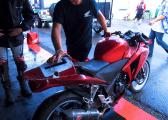 1st Crash Sean Smith - CBR250R get's looked at