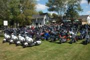 The Police Memorial Ride, parked bikes.