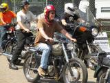 Riding happy at the AMA Vintage Motorcycle Days Event
