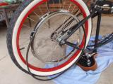 1948 Whizzer Replica Build - Clamping the sheave to the spokes 2