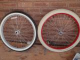 1948 Whizzer Replica Build - Wheels before and after