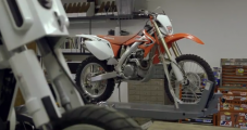Tom Cruise rides a custom Honda CRF450 in his new futuristic movie Oblivion