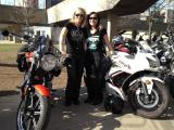 International Female Ride Day Toronto - Nancy and Cecilia with their bikes