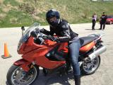 Patricia on the BMW F800GT