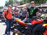 Sportbikes at Weirs Beach Laconia Bike Week '13