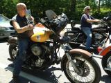 Shovelhead in biker traffic Laconia 2013