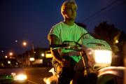 Ryan Gosling as Luke in '…Pines' on motorbike