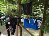 Drying my gear off - there's nothing worse than sweaty dirt riding gear