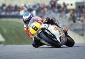 Steve Parrish at racing at Donington Park