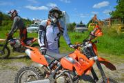 Alex geared up on the KTM 450, Moto-farm
