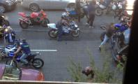 Range Rover vs Motorcycles NYC