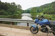 Kawasaki on Route 666 bridge in the Allegheny Nation Forest