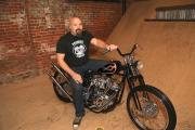 Jason Parker and his 1200cc Shovelhead
