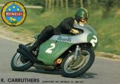 World Champion Kelvin Carruthers on a Benelli Motorcycle