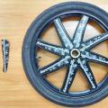 Motorcycle TV screen wheels
