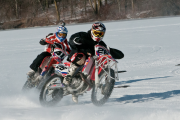 Supermotard Motorcycle Ice Racing Szoke Style