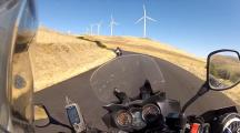 Riding near the windmills on Maryhill Loops Road